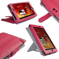 View Item iGadgitz Pink Genuine Leather Case Cover for Acer Iconia Tab A100 7&quot; 8gb WiFi Tablet